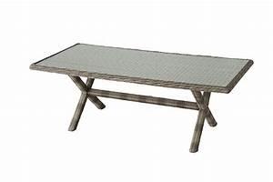 Table De Jardin Tressé : table de jardin hesp ride rectangle r sine tress e betong ~ Nature-et-papiers.com Idées de Décoration