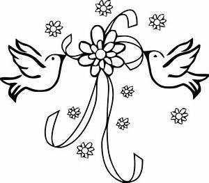 Dessin Couple Mariage Couleur : coloriage dessin colombes pour mariage dessin gratuit ~ Melissatoandfro.com Idées de Décoration