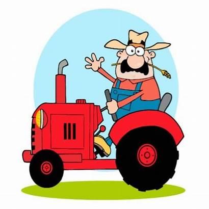 Clipart Granjero Tractor Traktor Bauer Farmer Animado