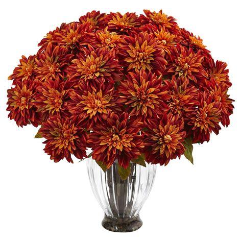 dahlia flower arrangements nearly natural silk dahlia floral arrangement 1419 or the home depot