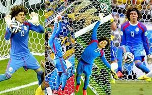 World Cup 2014: Wonder goalie Ochoa leaves hosts Brazil ...