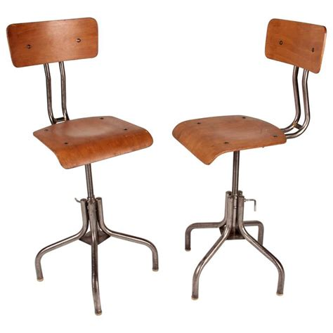 industrial chair with metal legs for sale at 1stdibs