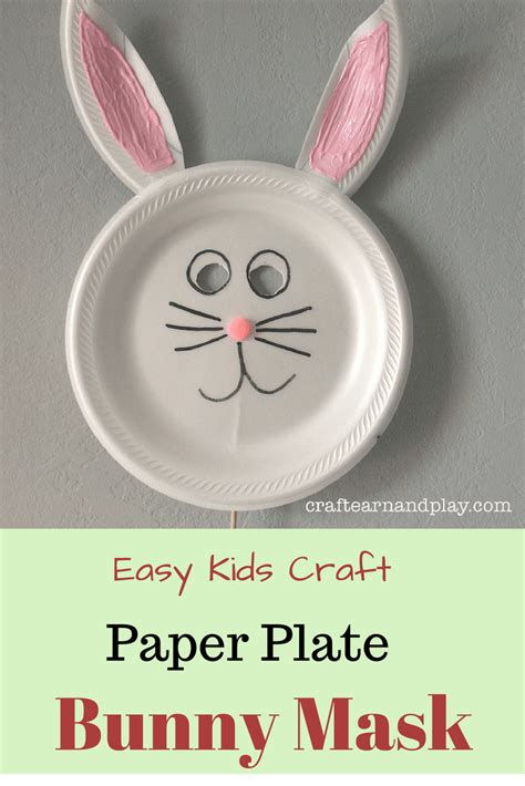 paper plate bunny mask   simple steps