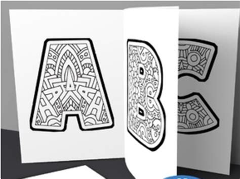 Kids Alphabet Coloring Book Pages