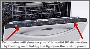 Kitchenaid Dishwasher Error Fault Codes For He Model Dishwashers