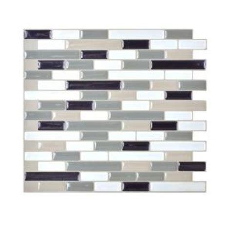 smart tiles home depot smart tiles muretto blues 10 20 in x 9 10 in peel and