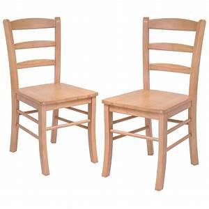 Winsome Set of 2 Light Oak Ladder Back Chairs - 151003