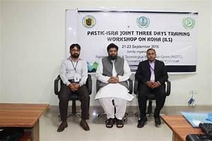 PASTIC-ISRA Joint Three Days Training Workshop on KOHA ...