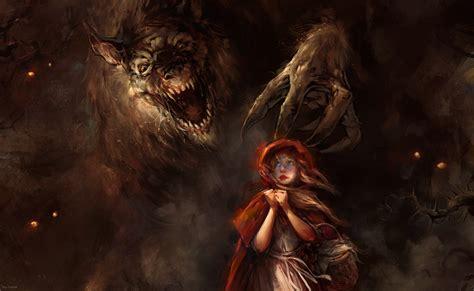 Wallpaper : wolf, demon, Little Red Riding Hood, mythology ...