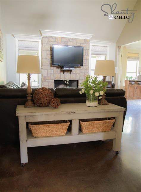 check    pottery barn inspired console table