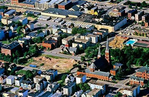 Airphoto - Aerial Photo of Downtown Lewiston, Route 11 ...