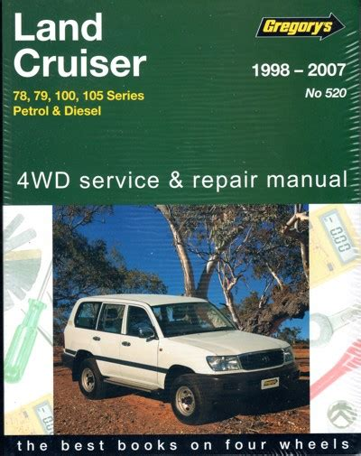 old cars and repair manuals free 1996 land rover range rover spare parts catalogs toyota landcruiser petrol and diesel 78 79 100 105 series repair manual 1998 2007 gregorys new