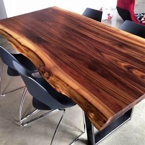 Table Bois Massif Design : 2loons tables en noyer massif mikaza meubles modernes montreal modern furniture ottawa ~ Teatrodelosmanantiales.com Idées de Décoration
