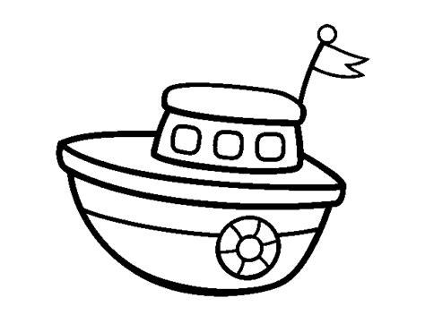 Barco Dibujo Para Pintar by Dibujo De Un Barco De Juguete Para Colorear Dibujos Net