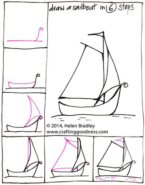 Boat Drawing Instructions by 128 Best Kawaii And Doodles Drawings Step By Step Images