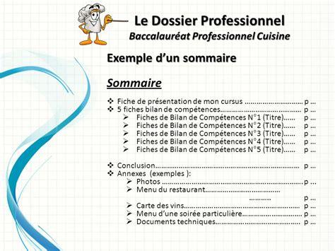 bac professionnel cuisine fiche bilan de competences bac pro cuisine 28 images