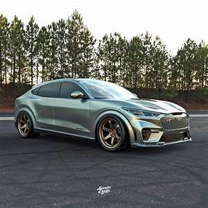 Modified Mach-E GT imagined with lowered suspension, aftermarket wheels, etc. | Ford Mustang ...