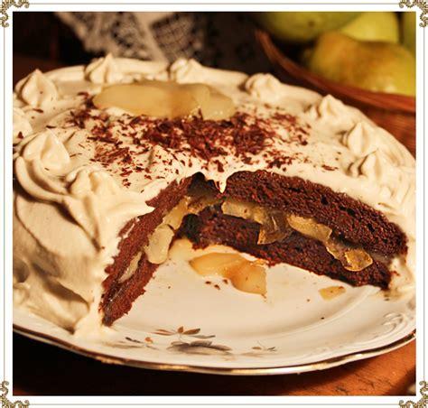 recette cuisine gateau chocolat recette du gâteau au chocolat aux poires caramélisées à l