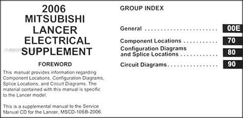 mitsubishi lancer wiring diagram manual original