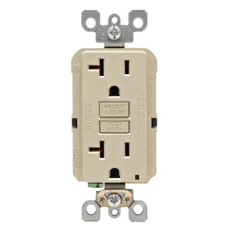 leviton 20 amp 125 volt duplex self test gfci outlet