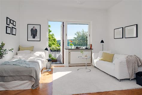 harmonious small bedroom apartment charming 26 sqm apartment in sweden offering the best of
