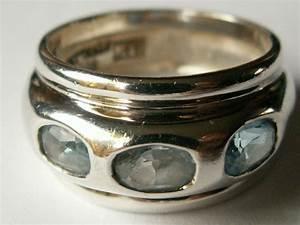 Bague Avec Pierre Bleu : bague argent avec trois pierres bleu clair catawiki ~ Melissatoandfro.com Idées de Décoration