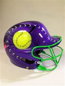 Airbrushed Softball helmet by UnlimitedAirbrush on Etsy