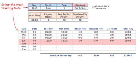 employee timesheet calculator template  excel