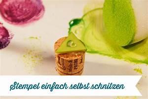 Stempel Selbst Herstellen : stempel einfach selbst schnitzen frau fadenschein ~ Watch28wear.com Haus und Dekorationen