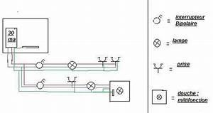 Prise Electrique Salle De Bain : schema electrique salle de bain ~ Dailycaller-alerts.com Idées de Décoration