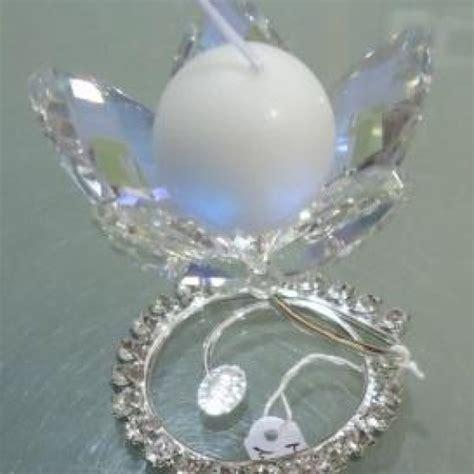 fiore di cristallo fiore portacandela in cristallo di swarovski bomboniera