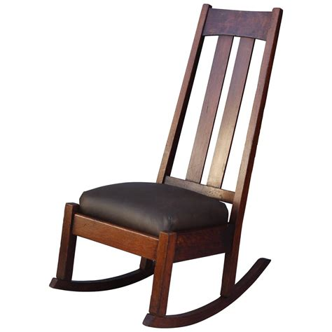 1910 arts and crafts high back rocking chair for sale at