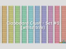 Clapboard Crush Siding Walls Set #2 with White Corner