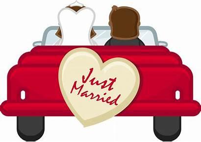 Married Honeymoon Clipart Clip Cartoon Marriage Transparent