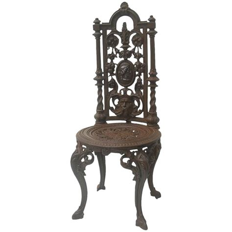 19th century napoleon iii cast iron chair for sale at 1stdibs