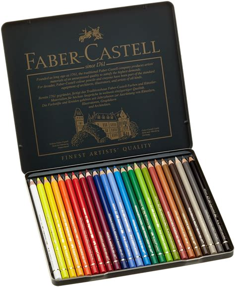 faber castell color pencils faber castell polychromos color pencil tin of 24 lix