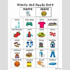 Wants And Needs Sorting Center By 4 Little Baers Tpt