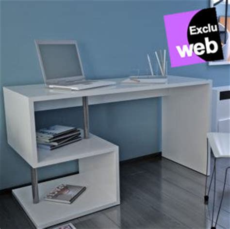bureau blanc moderne bureau blanc mat style moderne esse bureau alinéa