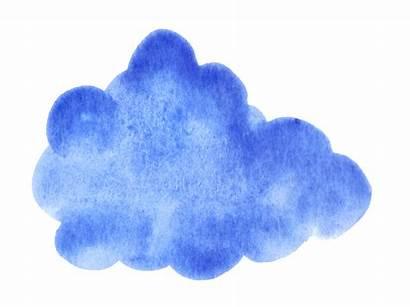 Watercolor Cloud Clouds Transparent Onlygfx