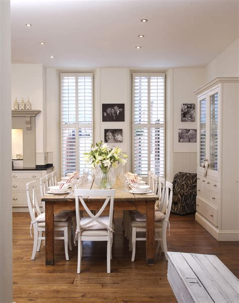 White Country Dining Room  Dining Room Decorating Ideas