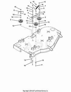 Ariens 915205  000101 -   Ikon-x 52 Parts Diagram For Idlers And Sheaves