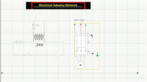 Electric Motor Control Wiring Diagram Youtube