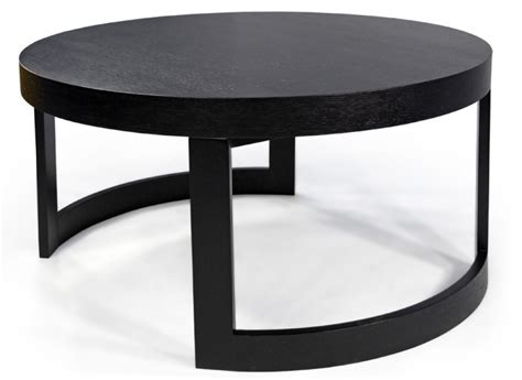 Black Round Coffee Table  Shelby Knox