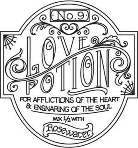 love potion apothecary label urban threads unique