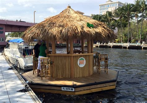 This Floating Tiki Bar From Cruisin' Tiki Has Been Boating
