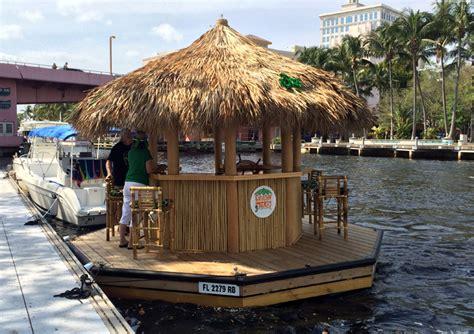 Tiki Bar Boat by This Floating Tiki Bar From Cruisin Tiki Has Been Boating