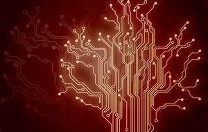 Red technology background Vector | Free Download