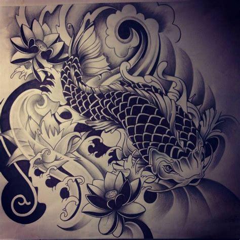 Japanese Koi Fish Tattoo Drawing  Tattoo Pinterest