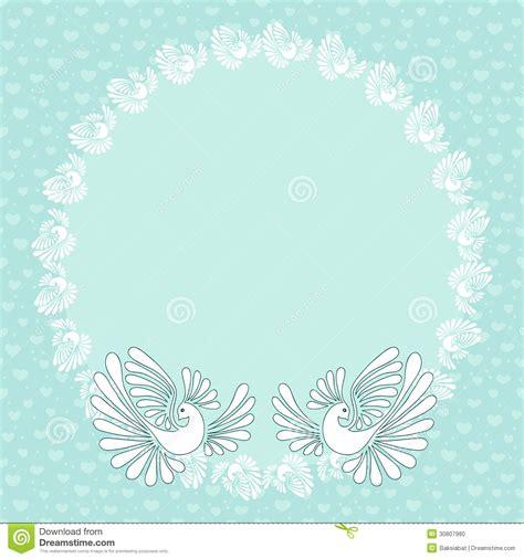 romantic background  doves  wedding cards stock