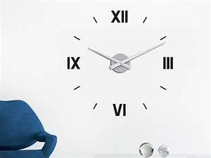 Römische Zahlen Uhr : wandtattoo wanduhr r mische zahlen von klebeheld de ~ Orissabook.com Haus und Dekorationen